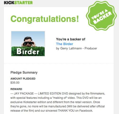 Kickstarterthebirder