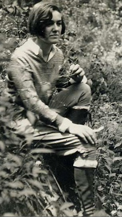 Virginia in the woods, at age 18; photo reproduced with permission from Larry Eifert